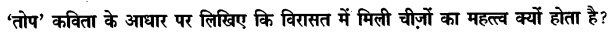 Chapter Wise Important Questions CBSE Class 10 Hindi B - तोप 28