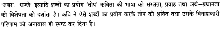 Chapter Wise Important Questions CBSE Class 10 Hindi B - तोप 4