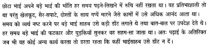 Chapter Wise Important Questions CBSE Class 10 Hindi B - बड़े भाई साहब 4