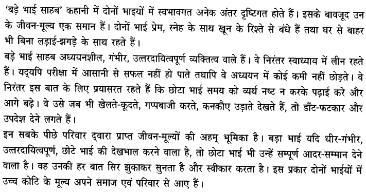 Chapter Wise Important Questions CBSE Class 10 Hindi B - बड़े भाई साहब 8