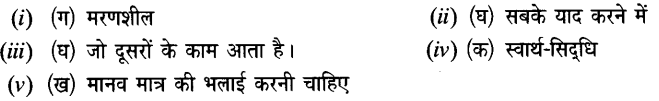 Chapter Wise Important Questions CBSE Class 10 Hindi B - मनुष्यता 23