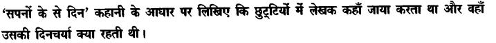 Chapter Wise Important Questions CBSE Class 10 Hindi B -सपनों के-से दिन 67