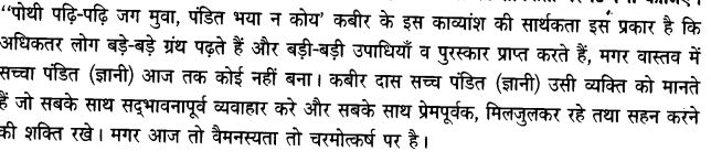 Chapter Wise Important Questions CBSE Class 10 Hindi B -साखी 29