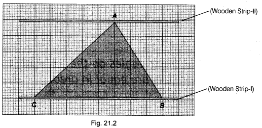NCERT Class 9 Maths Lab Manual - Verify that the Triangles on the Same Base 2