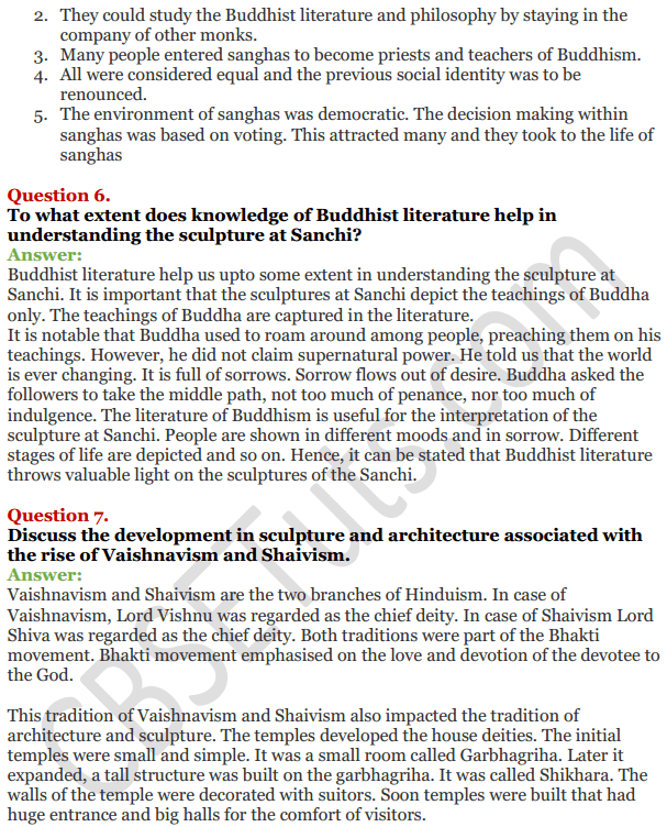 NCERT Solutions For Class 12 History Chapter 4 Thinkers