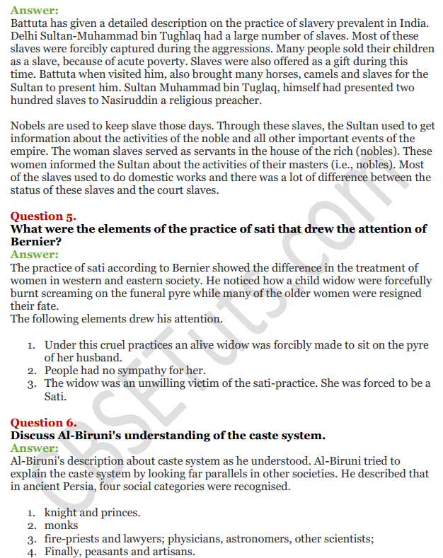 NCERT Solutions For Class 12 History Chapter 5 Through the Eyes of Travellers Perceptions of Society 2