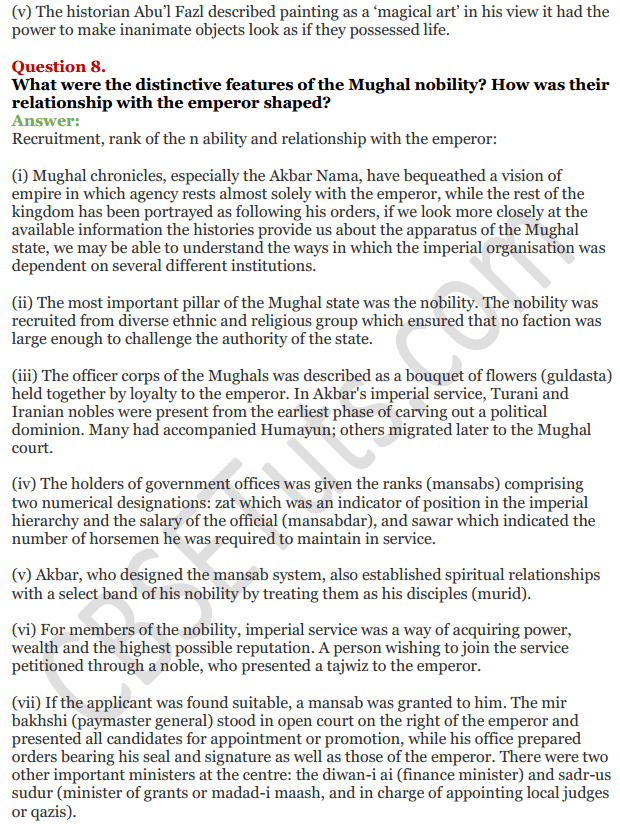 NCERT Solutions For Class 12 History Chapter 9 Kings and Chronicles The Mughal Courts 6