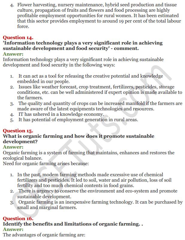 NCERT Solutions for Class 11 Chapter 6 Rural Development IMG10