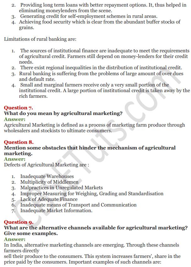 NCERT Solutions for Class 11 Chapter 6 Rural Development IMG4
