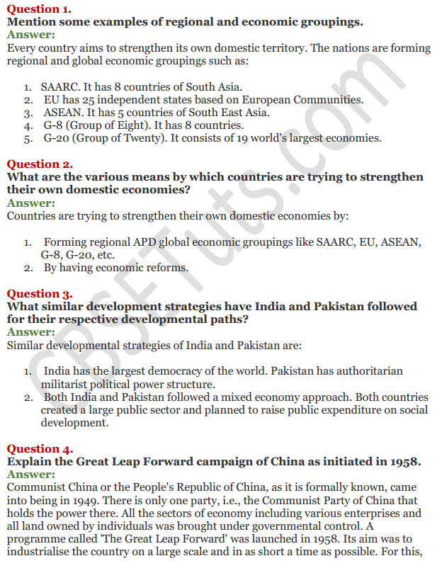 NCERT Solutions for Class 11 Economics Chapter 1 Indian Economy on the Eve of Independence