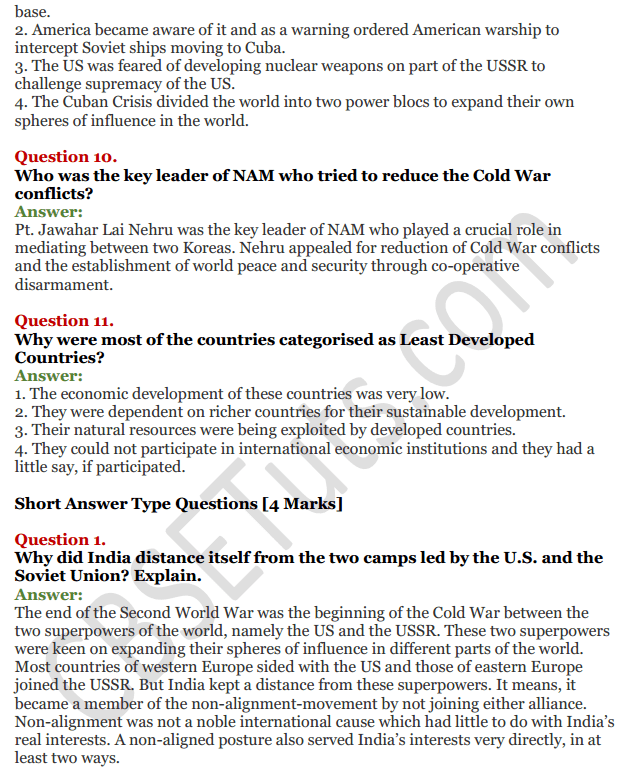 NCERT Solutions for Class 12 Political Science Chapter 1 The Cold War Era 13