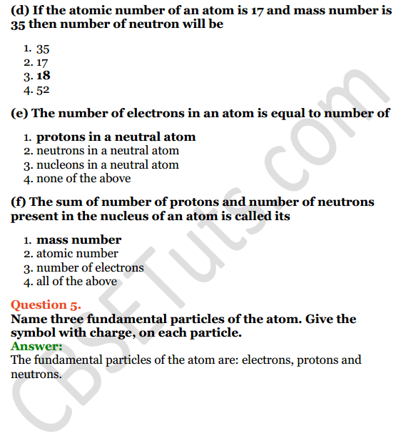 Selina Concise Chemistry Class 8 ICSE Solutions Chapter 4 Atomic Structure 3