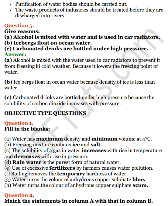 Selina Concise Chemistry Class 8 ICSE Solutions Chapter 8 Water 12