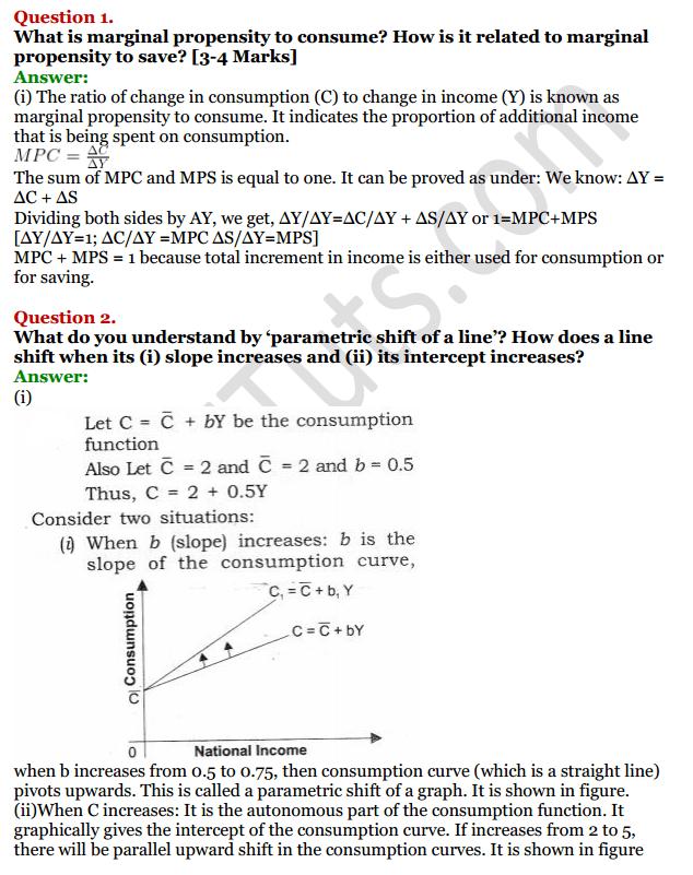 NCERT Solutions for Class 12 Macro Economics Chapter 5