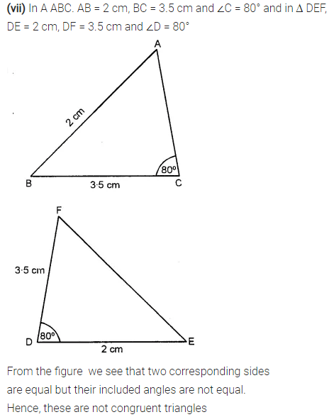 Selina Concise Mathematics Class 7 ICSE Solutions Chapter 19 Congruency Congruent Triangles 2