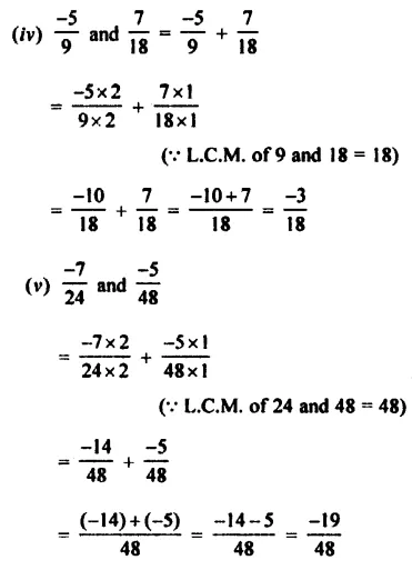 Selina Concise Mathematics Class 7 ICSE Solutions Chapter 2 Rational Numbers Ex 2C 48