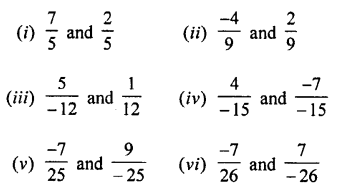 Selina Concise Mathematics Class 7 ICSE Solutions Chapter 2 Rational Numbers Ex 2C Q1