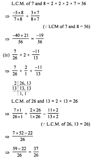 Selina Concise Mathematics Class 7 ICSE Solutions Chapter 2 Rational Numbers Ex 2E 104