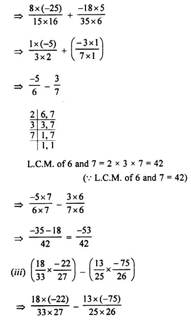 Selina Concise Mathematics Class 7 ICSE Solutions Chapter 2 Rational Numbers Ex 2E 114