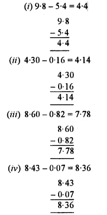 Selina Concise Mathematics Class 7 ICSE Solutions Chapter 4 Decimal Fractions (Decimals) Ex 4B 10