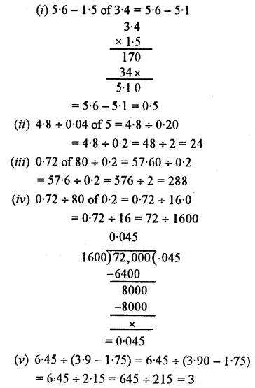 Selina Concise Mathematics Class 7 ICSE Solutions Chapter 4 Decimal Fractions (Decimals) Ex 4F 84