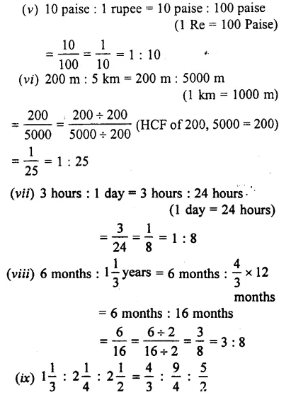 Selina Concise Mathematics Class 7 ICSE Solutions Chapter 6 Ratio and Proportion (Including Sharing in a Ratio) Ex 6A 2