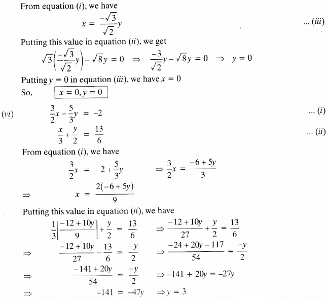 NCERT Solutions for Class 10 Maths Chapter 3 Pair of Linear Equations in Two Variables e3 4
