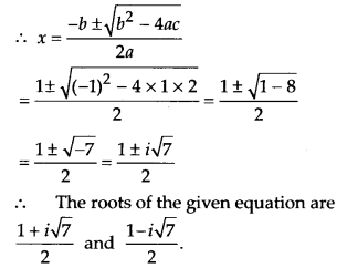 NCERT Solutions for Class 11 Maths Chapter 5 Complex Numbers and Quadratic Equations Ex 5.3 5
