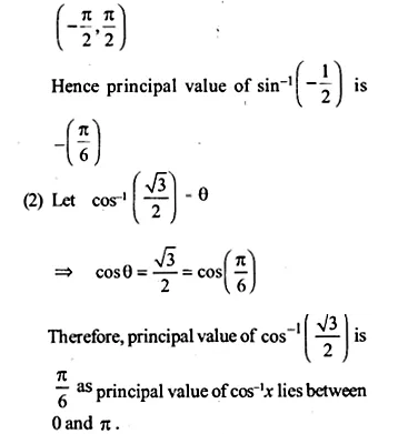 NCERT Solutions for Class 12 Maths Chapter 2 Inverse Trigonometric Functions Ex 2.1 Q1.1