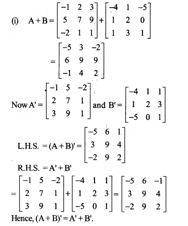 NCERT Solutions for Class 12 Maths Chapter 3 Matrices Ex 3.3 Q2.1