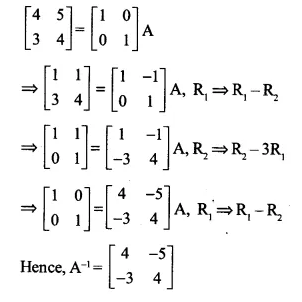 NCERT Solutions for Class 12 Maths Chapter 3 Matrices Ex 3.4 Q8.1