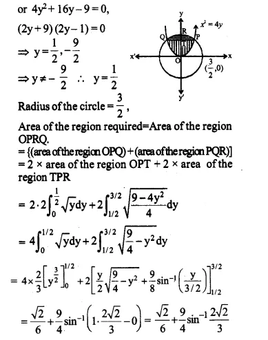 NCERT Solutions for Class 12 Maths Chapter 8 Application of Integrals Ex 8.2 Q1.1