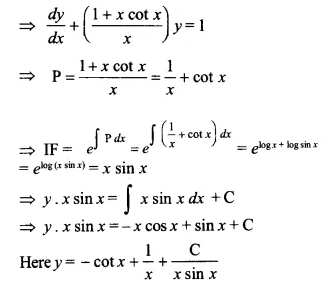 NCERT Solutions for Class 12 Maths Chapter 9 Differential Equations Ex 9.6 Q9.1