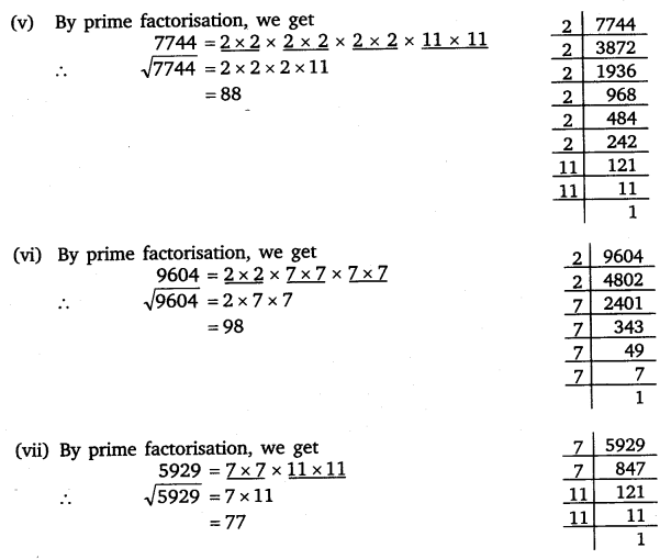 NCERT Solutions for Class 8 Maths Chapter 6 Squares and Square Roots 6
