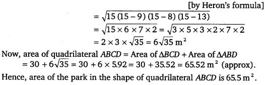 NCERT Solutions for Class 9 Maths Chapter 12 Heron's Formula Ex 12.2.2