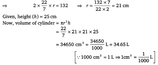 NCERT Solutions for Class 9 Maths Chapter 13 Surface Areas and Volumes Ex 13.6.1