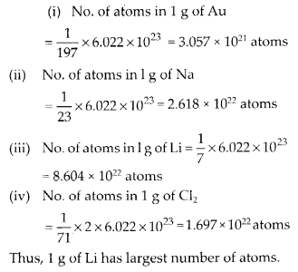 NCERT Solutions for Class 11 Chemistry Chapter 1 Some Basic Concepts of Chemistry 19
