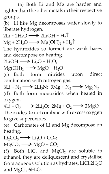 NCERT Solutions for Class 11 Chemistry Chapter 10 The s Block Elements 3