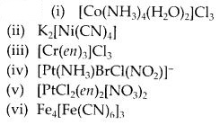 NCERT Solutions for Class 12 Chemistry Chapter 9 Coordination Compounds 1