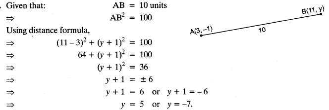 Coordinate Geometry Class 10 Maths CBSE Important Questions With Solutions 119
