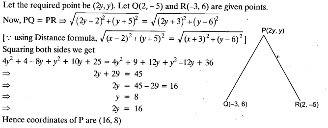 Coordinate Geometry Class 10 Maths CBSE Important Questions With Solutions 2