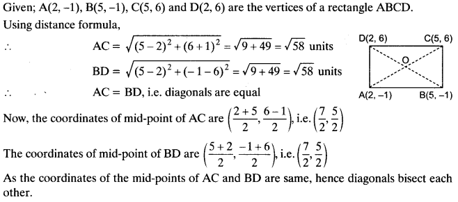 Coordinate Geometry Class 10 Maths CBSE Important Questions With Solutions 50