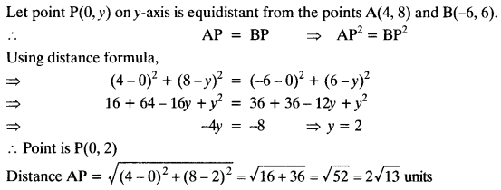 Coordinate Geometry Class 10 Maths CBSE Important Questions With Solutions 51