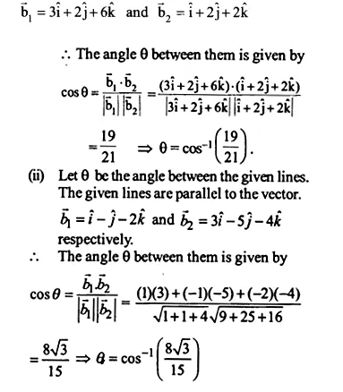 NCERT Solutions for Class 12 Maths Chapter 11 Three Dimensional Geometry Ex 11.2 Q10.1