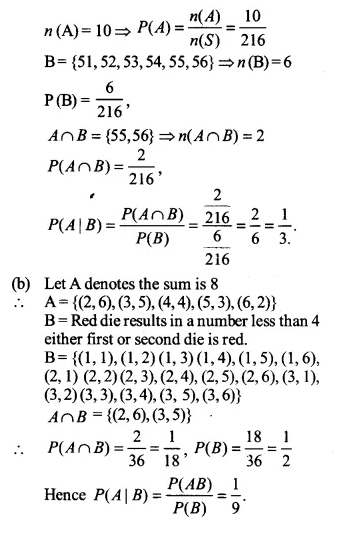 NCERT Solutions for Class 12 Maths Chapter 13 Probability Ex 13.1 Q10.1