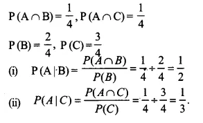 NCERT Solutions for Class 12 Maths Chapter 13 Probability Ex 13.1 Q12.1