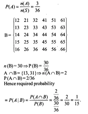 NCERT Solutions for Class 12 Maths Chapter 13 Probability Ex 13.1 Q14.2