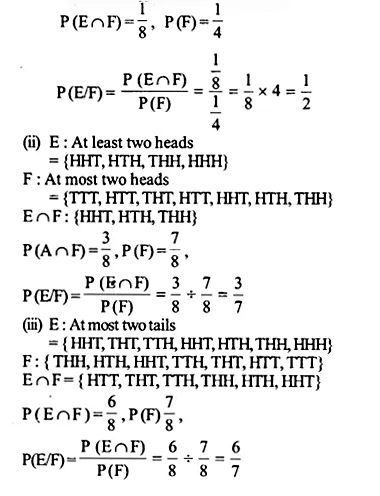 NCERT Solutions for Class 12 Maths Chapter 13 Probability Ex 13.1 Q6.1