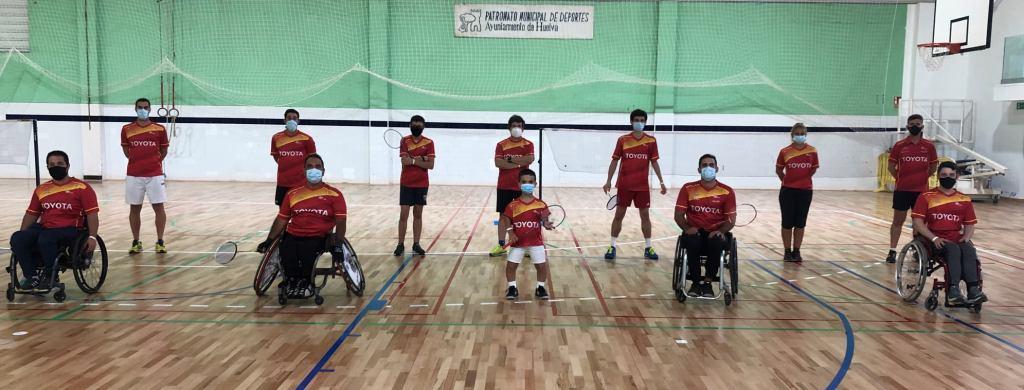 La Selección Nacional de Parabádminton se concentra en Huelva (con representación de nuestro club)