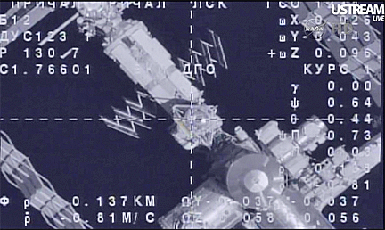Soyuz docks with space station, boosts lab crew back to ...